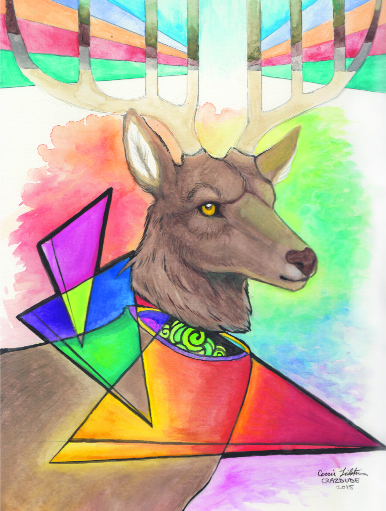 Abstract Elk Greeting Card Crazdude Art Amp Design