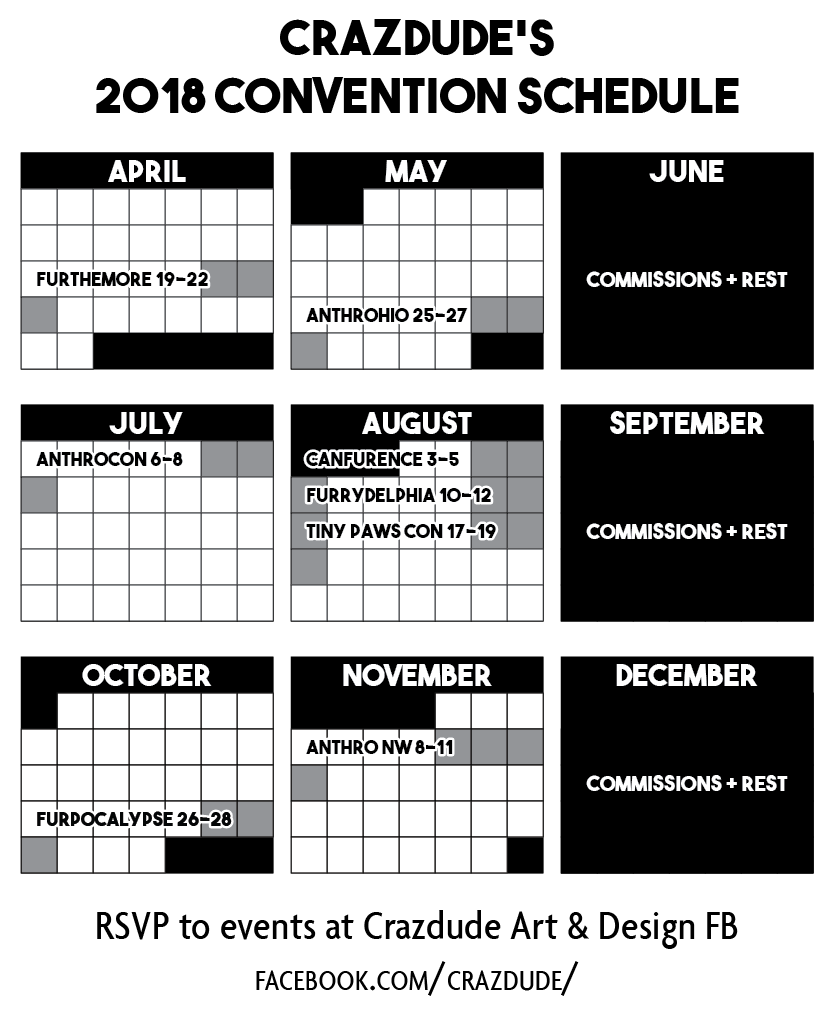 Crazdude 2018 Convention Schedule